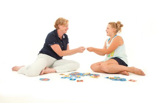 Nancy Hauzendorfer aan het werk als kindercoach